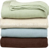 Waffel /Herringbone Weave 100%Cotton Hotel Blanket