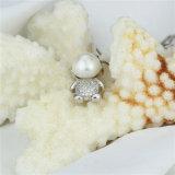 Colgante de agua dulce natural de la perla de la niña linda de Snh con plata