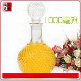 750ml 1000ml Glaswein-Flaschen-Kristallglas-Flasche für Spiritus, Whisky, Alkohol