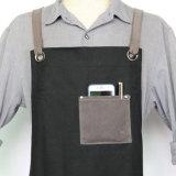 Grembiuli dello strumento della tela di canapa incerati il nero Premium Well-Crafted di qualità con la casella per i carpentieri