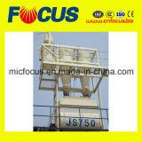 Mezclador concreto preparado de la alta calidad Js750, mezclador concreto del eje del gemelo del control del PLC