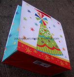 Sac de papier de empaquetage estampé par coutume d'achats de qualité