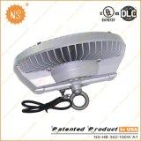 Iluminación de la bahía del UFO LED del grado 100W de Dlc IP65 120 del cUL de la UL alta