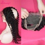 dos Frontals indianos do laço do cabelo 360 do Virgin da classe 8A cabelo Curly profundo