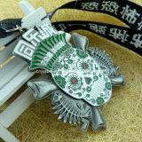 Il premio su ordinazione di funzionamento di maratona del metallo mette in mostra la medaglia con il nastro