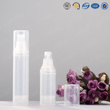 15ml 20ml 30ml 50ml 80ml 100ml Pet / PP Airless garrafa de bomba de loção plástica para embalagem cosmética