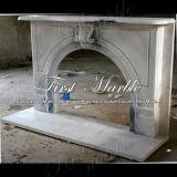 Wit Carrara met Grijze Open haard Veining voor Bouwmateriaal mfp-1002