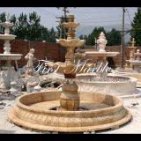 Fontaine antique de travertin pour les meubles Mf-1041 de jardin
