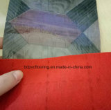 De in reliëf gemaakte Goedkopere Gevoelde Steunende Vloer die van pvc 0.7mm tot 3.0mm omvatten