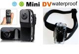 La mini macchina fotografica molto piccola del magnetoscopio di DV HD mette in mostra il caso impermeabile Md80