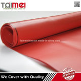 O PVC impermeável da cor vermelha revestiu a tela para a tampa do caminhão