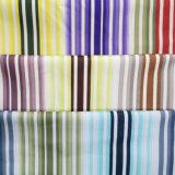 Raya colorida contemporánea impresa tejida moviendo hacia atrás la tela del sofá de la tapicería
