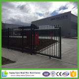 China Fábrica de suministro barato Negro Color Steel Fence Panel