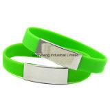 Bracelet de silicium de bijou d'acier inoxydable