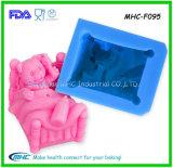 Moules de silicone de la forme 3D d'ours pour le fondant