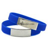 Edelstahl-Schmucksache-Silikon-Armband für fördernde Geschenke
