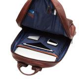 Backpack компьтер-книжки ультрамодной конструкции рыжеватокоричневый реальный кожаный для школы