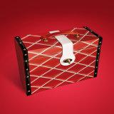 Caja cosmética de cuero de la PU de la alta calidad