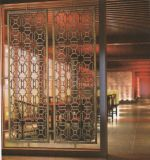 デザインチタニウムの金のステンレス鋼は室内装飾のための部屋ディバイダを選別する
