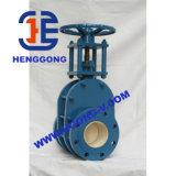 Válvula de puerta neumática de cerámica de Wcb del acero de carbón del borde de API/DIN