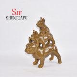 Familia armoniosa de cerámica de tres perros para las decoraciones caseras
