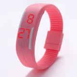 Horloge van de Armband van het Silicone van de Manier van het Ontwerp van de douane het Digitale, LEIDEN Polshorloge, het Horloge van de Gelei