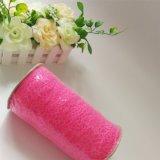 Commercio all'ingrosso rosa-chiaro del tessuto del merletto della guarnizione di figura di Web