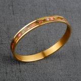 Brazaletes plateados oro del diseño simple del regalo del acero inoxidable 316L de la joyería de la pulsera del encanto