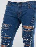 Pantalones vaqueros del algodón de la manera de los hombres de encargo con estiramiento