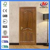 Peau blanche moulée neuve de porte de mélamine en bois solide (JHK-MN06)