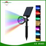 7LED RGB Scheinwerfer-im Freien wasserdichtes Sonnenenergie-Scheinwerfer-Garten-Yard-Pfad-Rasen-Lampen-Landschaftslicht des Bahn-Solarlicht-LED