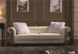 Sofa jaune-clair de luxe classique de Chesterfield de salle de séjour