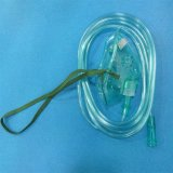 Máscara verde/transparente del PVC de la alta calidad de Qxygen con el tubo de los 210cm como máscara de oxígeno