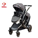 De Wandelwagen van de baby met Frame Frame+Carseat en AchterCarrycot en Twee in