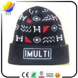 Tejido gorro bordado casquillo hecho punto invierno del sombrero de la gorrita tejida