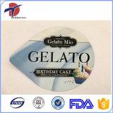 Tampa da folha de alumínio do copo do bolo de Peelable com o certificado do produto comestível