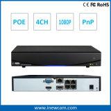sustentação Onvif do jogo do ponto de entrada NVR de 1080P 4CH P2p