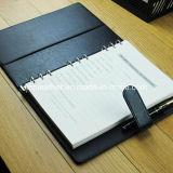 Cuadernos magnéticos de cuero de la agenda del diario de la carpeta de anillo