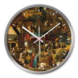 Reloj de pared bastante de madera de nuestra fábrica