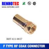 Gold-Plating 철사 연결관 F 남성 케이블 어셈블리를 위한 RG6 압축 Snap&Seal