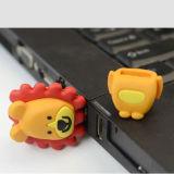 사자 만화 USB 섬광 드라이브 선물 만화 USB 선물 로고에 의하여 주문을 받아서 만들어지는 256GB