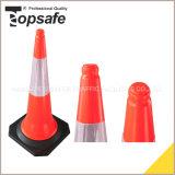 o LDPE Orangetwo fluorescente de 100cm parte os cones do tráfego (S-1204L)