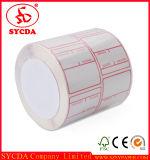 Personalizado térmica etiqueta autoadhesiva de papel impreso Adhesivo