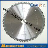 A circular Titanium superior do carboneto viu as lâminas