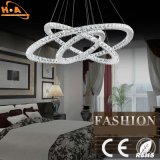 Três Crystal Round Rings LED Light Dining Room Chandelier