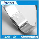 Metal inoxidable lazos de acero con color plata