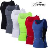 Vestiti della parte superiore dei vestiti di ginnastica di forma fisica di sport di compressione degli uomini di Dt0006 Neleus