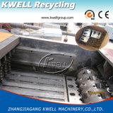 Desfibradora y trituradora plásticas duras dos del solo eje en una