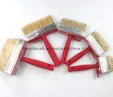 직업적인 자연적인 강모 빨간 플라스틱 손잡이 페인트 붓 청소 천장 구획 솔
