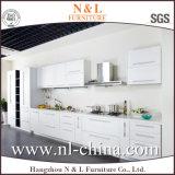 Gabinete de cozinha de madeira UV da grão do estilo novo